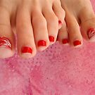 Pink toes are sweeter than candy by ART Gallery