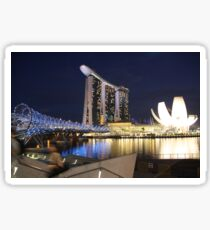 Evening Stroll In Singpore Sticker