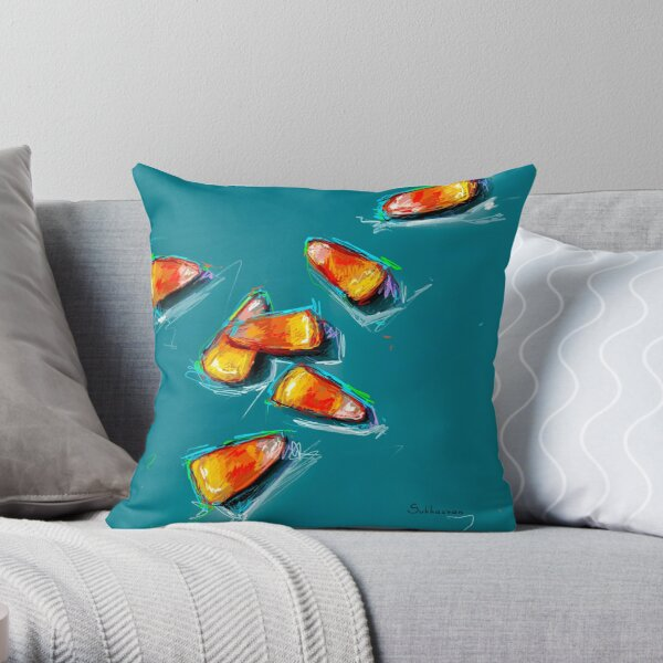 Candy Cornes  Throw Pillow