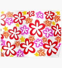 Doodle Flowers Poster