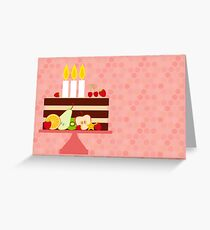 Happy Birthday Cake with Candles Greeting Card