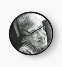 """A TIMELESS SMILE """"STEPHEN HAWKING"""" Clock"""