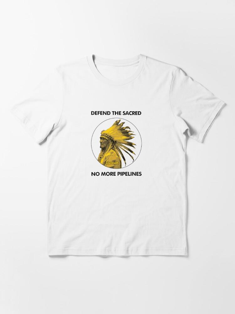 T-shirt essentiel ''Défendre le sacré - No More Pipelines #NODAPL': autre vue