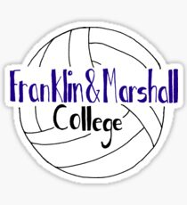 Franklin And Marshall College Volleyball Sticker