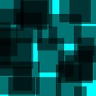 Black Squares on Blue by EvePenman