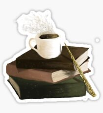 Books and Coffee Sticker