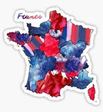 Watercolor Countries - France Sticker