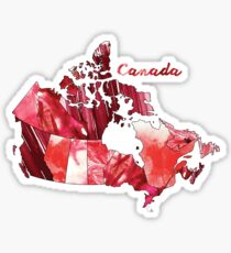 Watercolor Countries - Canada Sticker