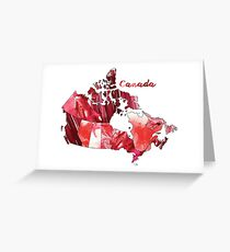 Watercolor Countries - Canada Greeting Card