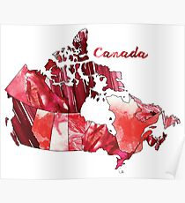 Watercolor Countries - Canada Poster