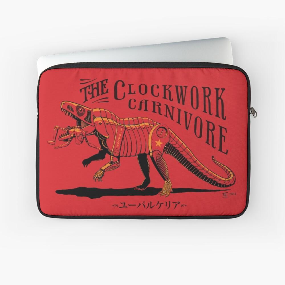Clockwork Carnivore (Red EUPARKERIA-TYPE) Laptop Sleeve