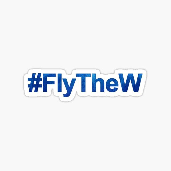 #FlyTheW Sticker