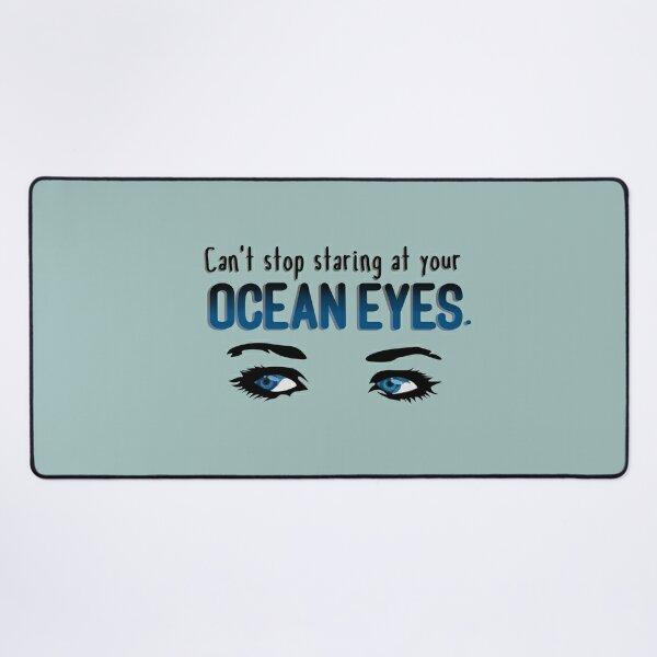 Staring At Your Ocean Eyes - Billie Eilish Design Desk Mat