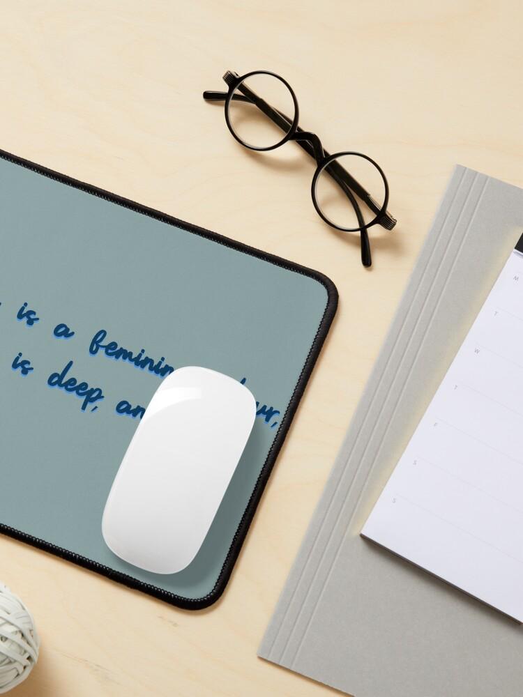 Alternate view of Blue, A Feminine Colour - MIKA Design Mouse Pad