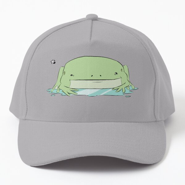 Funny Frog in Puddle Baseball Cap