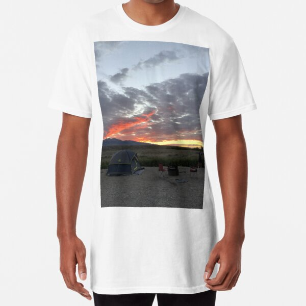 Campsite at dusk  Long T-Shirt