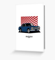 Nissan Skyline 2000 GT-R Coupe (blue) Greeting Card