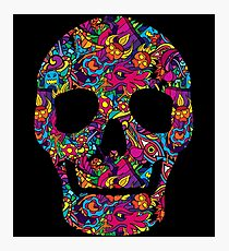 Day of the Dead - Psychedelic Skull 01 Photographic Print