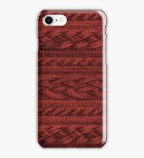 Cardinal Red Cable Knit iPhone Case/Skin