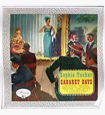 Sophie Tucker Cabaret Days Poster