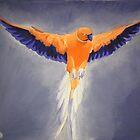 Orange & Blue Parrot by kruzadar