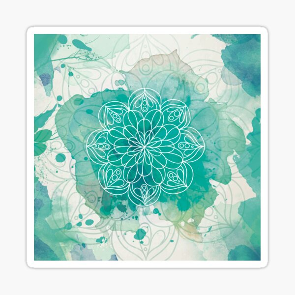 Green mandala Sticker