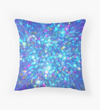 Winter #fractal art Throw Pillow