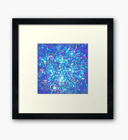 Winter #fractal art Framed Print