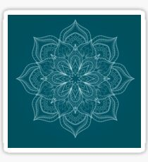 Darkslateblue mandala Sticker