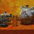 Teapot still life by David  Kennett