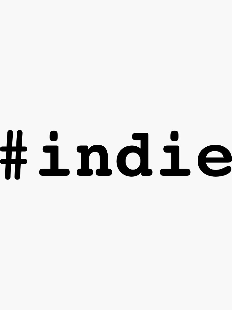 Hashtag Indie - Black by mitchallen