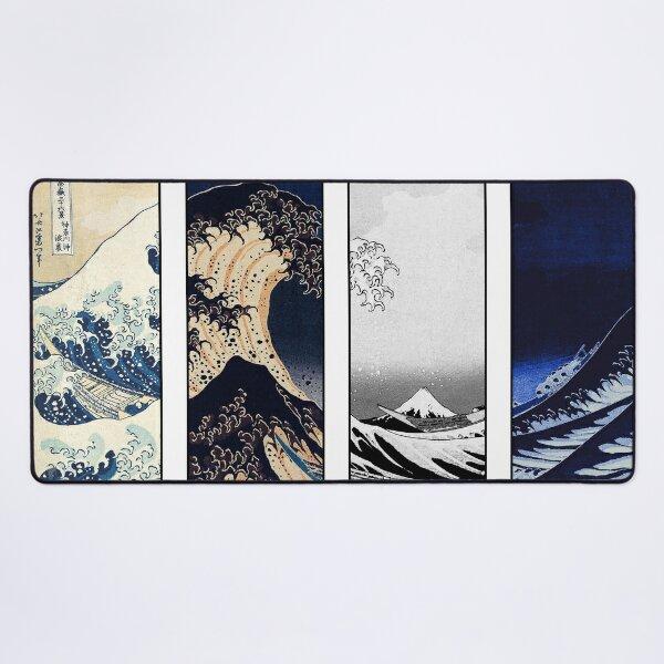 Great Wave off Kanagawa Color Glitch Desk Mat