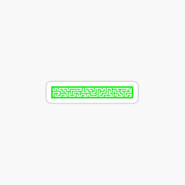 Maze 40x5 - Green Sticker