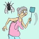 Granny vs Fly by Jed Dunstan