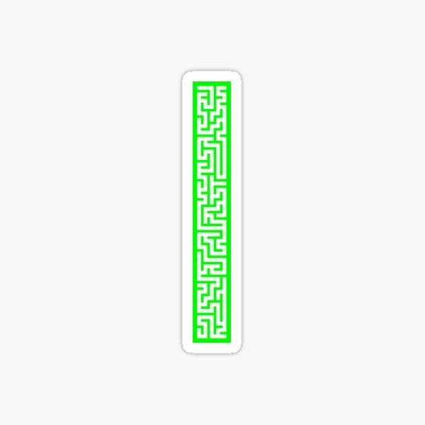 Maze 5x40 - Green Sticker