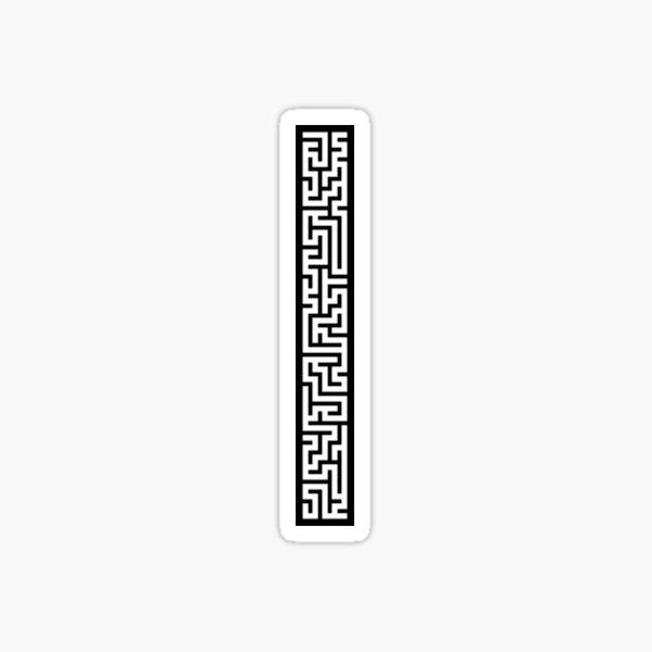 Maze 5x40 - Black Sticker