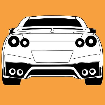 Nissan R35 GTR '17 Inspired Clothing & Apparel - Rear Light Angle by TheStickerLab