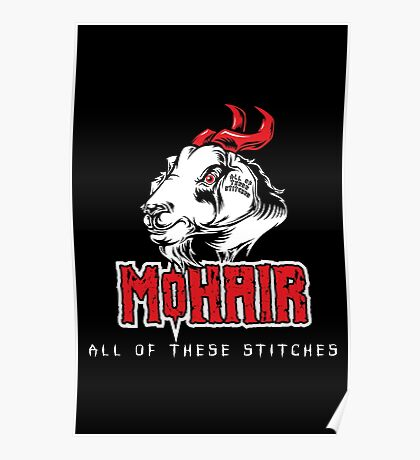 Heavy Metal Knitting - MoHair - All these stitches Poster