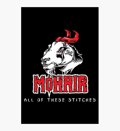 Heavy Metal Knitting - MoHair - All these stitches Photographic Print