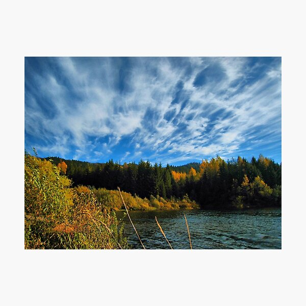 Beautiful autumn day. Wisła Czarne Fojtula Photographic Print