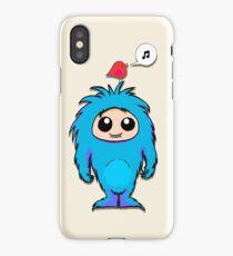Little Blue Monster Friend iPhone Case/Skin