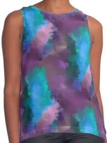 Abstract Blue Turquoise And Purple Colors Contrast Tank