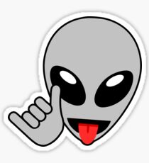 Extraterrestrial Alien Emoji Drawing Stickers Redbubble