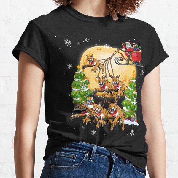 Cougar Reindeer Christmas Funny Cat Lover Xmas Classic T-Shirt