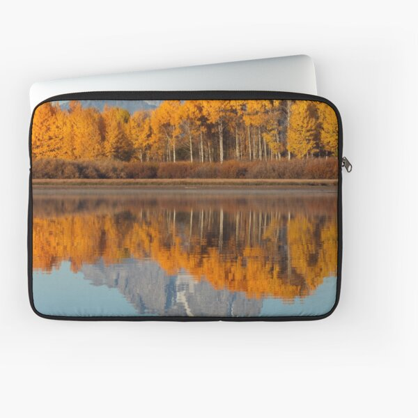 Aspen Grove Aflame At The Oxbow Laptop Sleeve