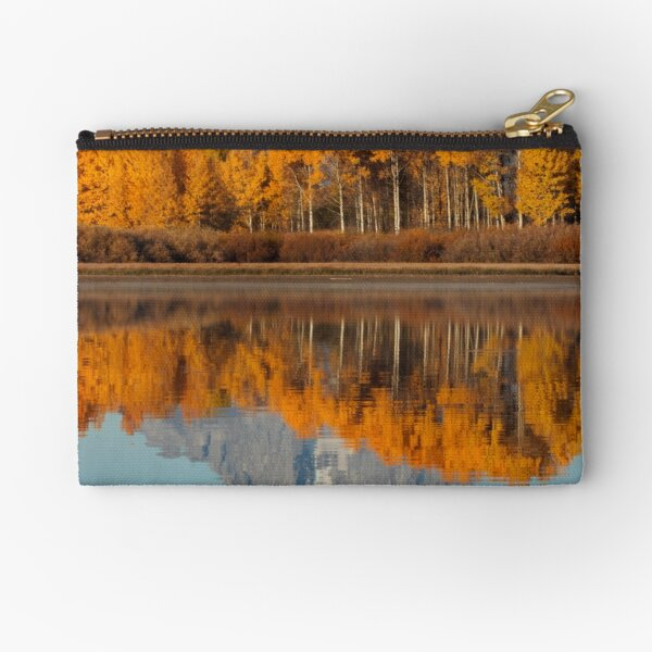 Aspen Grove Aflame At The Oxbow Zipper Pouch