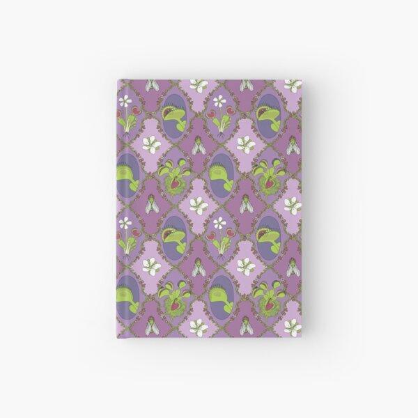 Venus Flytrap Motif in Purple Hardcover Journal