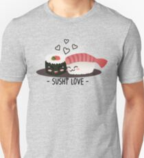 Camiseta unisex Amor del sushi