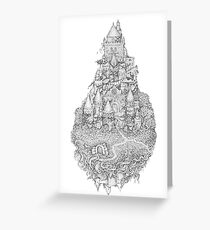 Ghost Castle Greeting Card