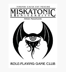 Miskatonic RPG Club Photographic Print